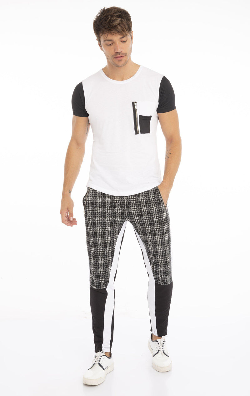 Noon Joggers - White Black