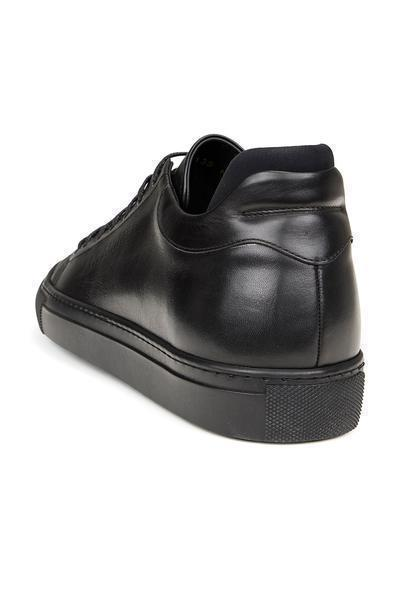 On Time All Leather Sneakers - BLACK BLACK - Ron Tomson