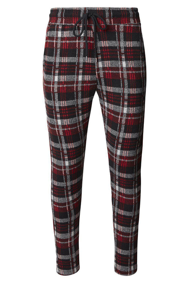 Overnight Joggers - Black Red