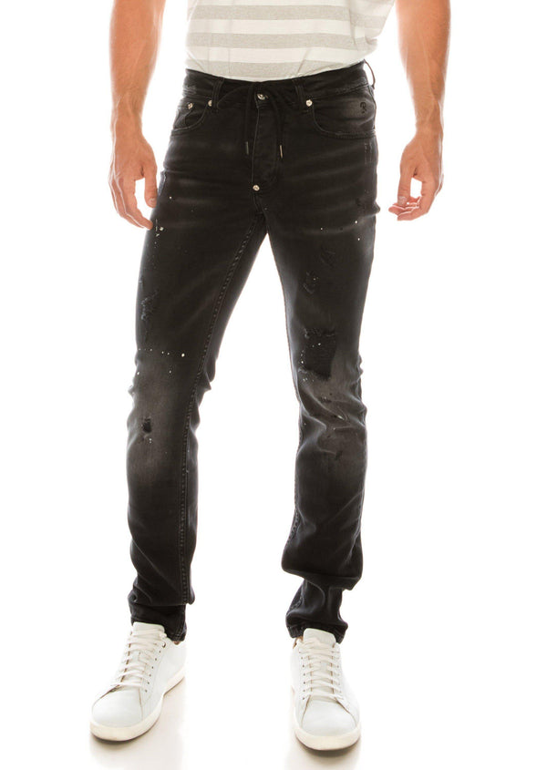 PAINTER BLACK SKINNY FIT JEANS - Ron Tomson