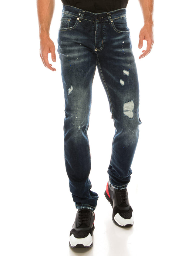 PAINTER NAVY SKINNY FIT JEANS