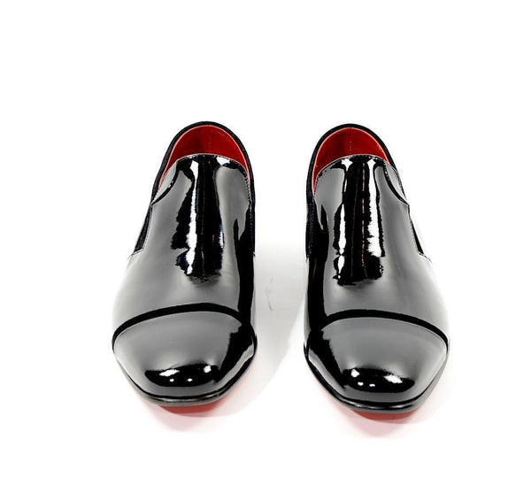 Patent Leather Loafer - Black