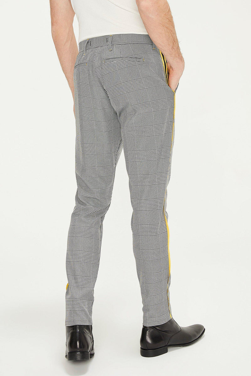 Patterned Slim Fit Casual Trouser - BLACK 1
