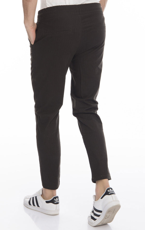 Pinstriped Elastic Waist Pull-On Pants - More Colors-Jeans-Ron Tomson-WINE-S-Ron Tomson