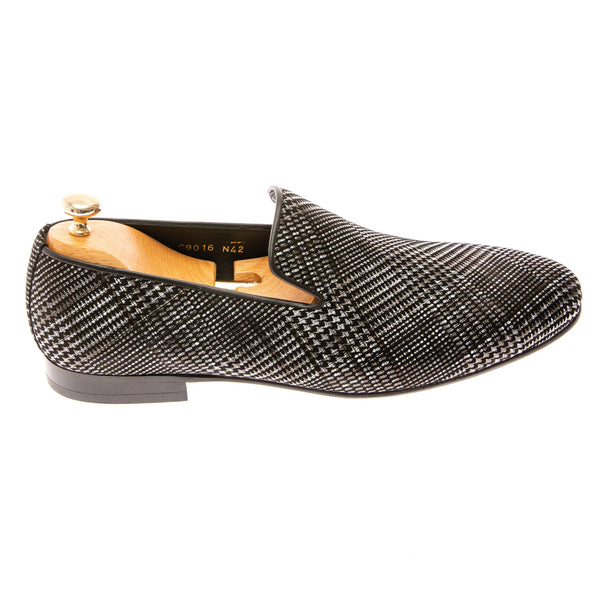 Plaid Pattern Loafer - Grey