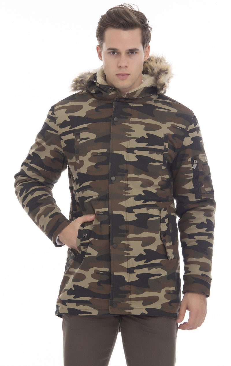 Polar Fleece Hooded Camo Jacket - More Colors