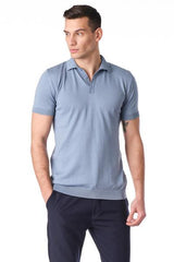 Polo Shirt  - Denim - Ron Tomson