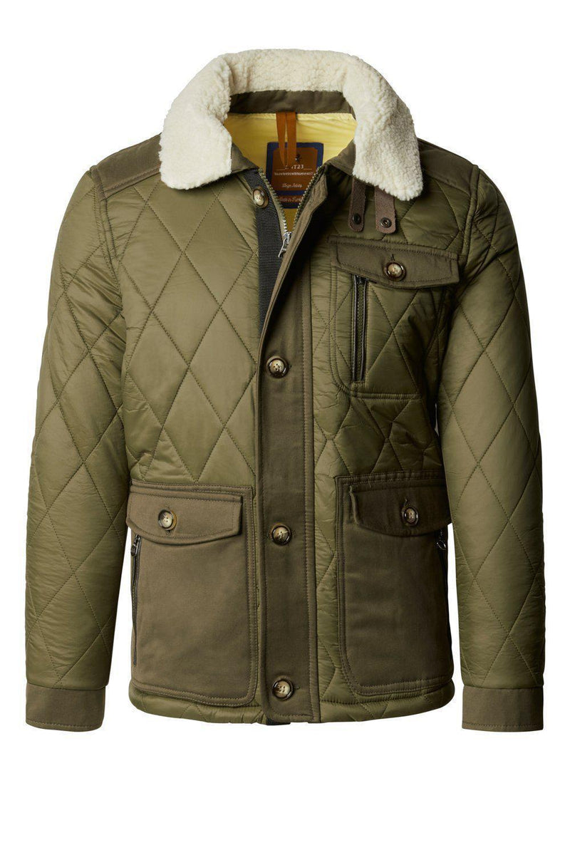 Quilted Puffer Jacket - Khaki - Ron Tomson