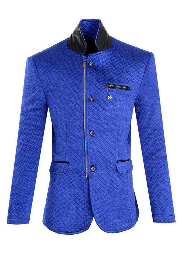 Quilted Zip Button Jacket - More Colors-Jackets-Ron Tomson-SAX-M/38-Ron Tomson