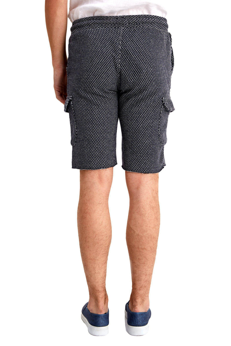 Raw Hem Casual Trainer Shorts - More Colors-Jeans-Ron Tomson-BLACK GREY-M-Ron Tomson