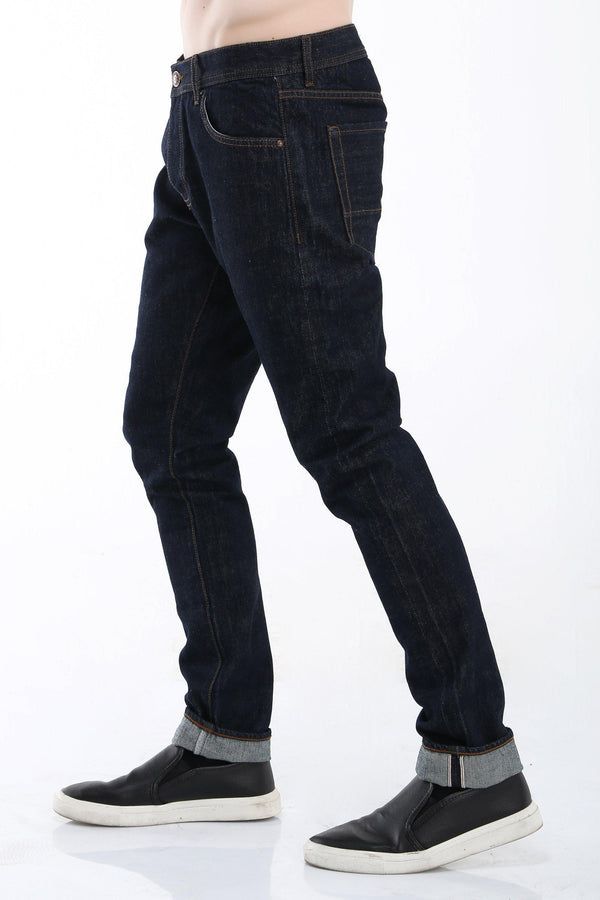 Raw Indigo Slim Selvedge Denim - Ron Tomson