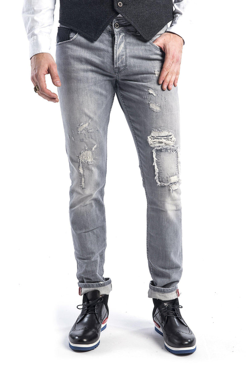 Rip and Repair Jeans - More Colors-Jeans-Ron Tomson-GREY-29-Ron Tomson
