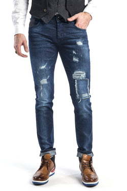 Rip and Repair Jeans - More Colors-Jeans-Ron Tomson-NAVY-29-Ron Tomson