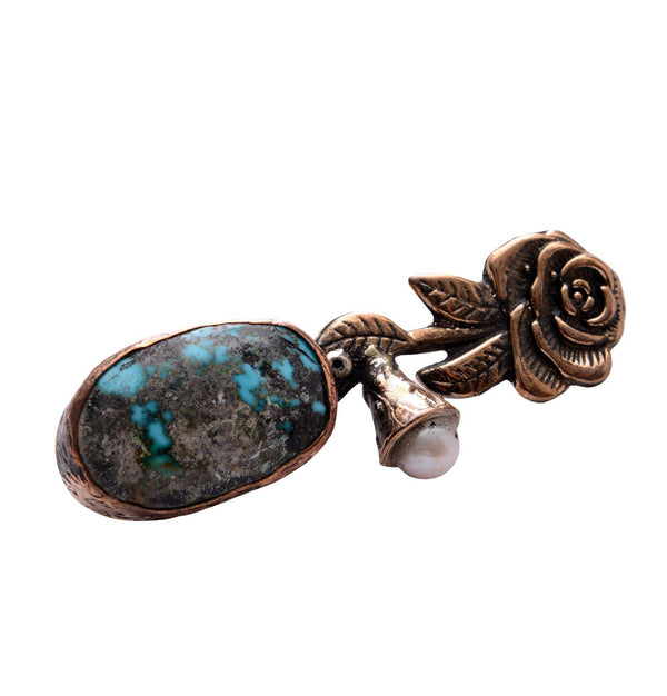 Rose and Stones Pendant Brooch - Ron Tomson