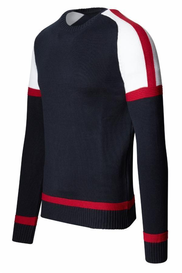 Rt Circuit Sweater - Navy - Ron Tomson