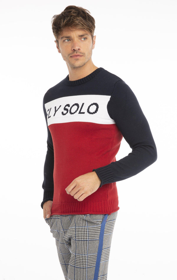Rt Fly Solo Knit Long Sleeve - Red - Ron Tomson