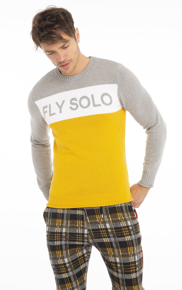 Rt Fly Solo Knit Long Sleeve - Yellow - Ron Tomson