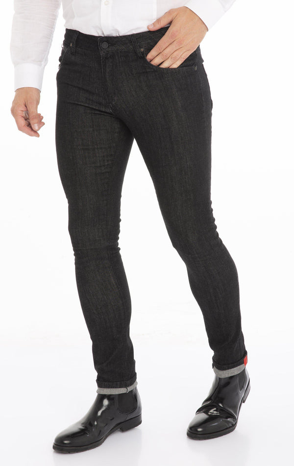RT Inner Red Skinny Denim - Black White