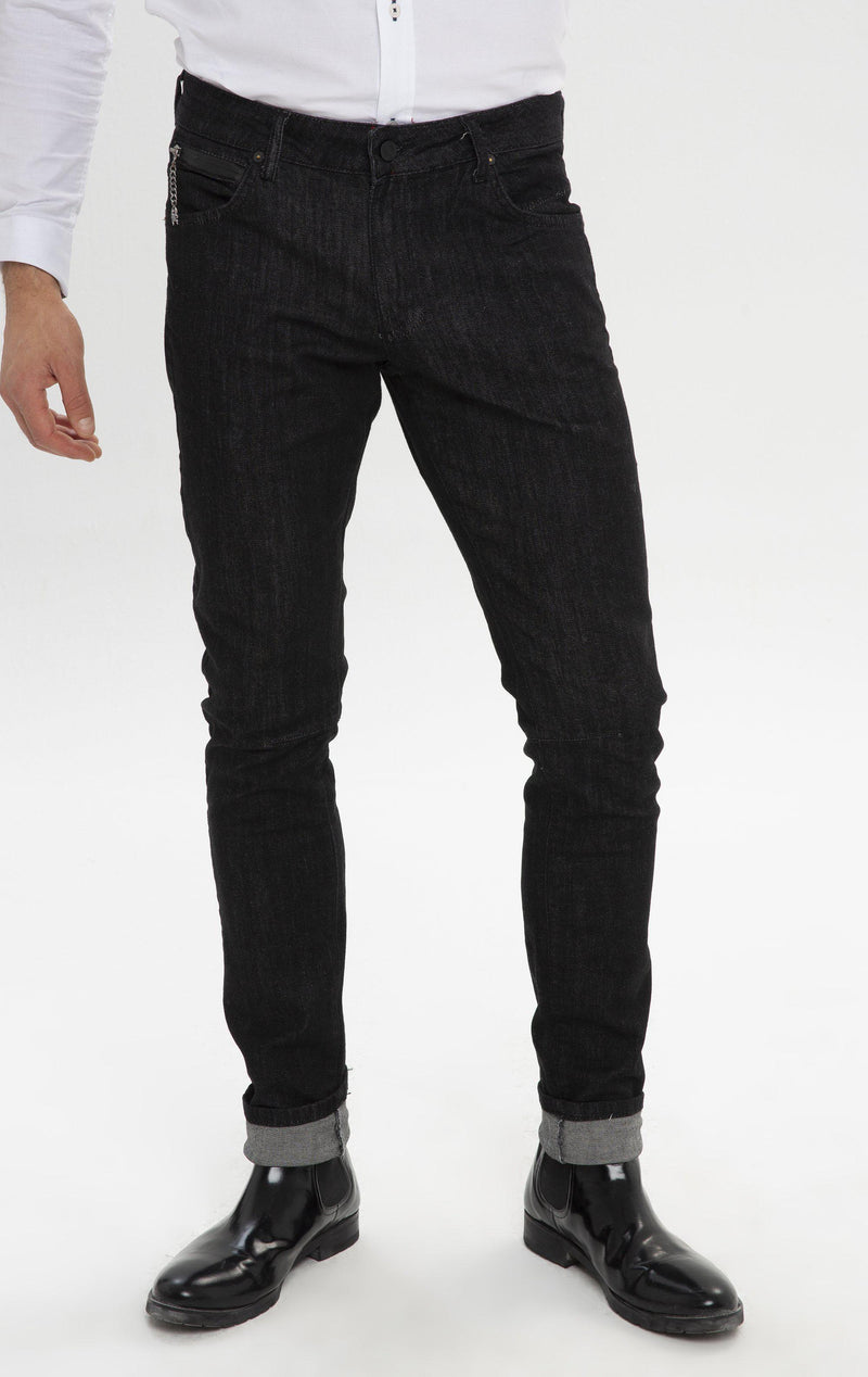 RT Inner Red Skinny Denim - Indigo - Ron Tomson