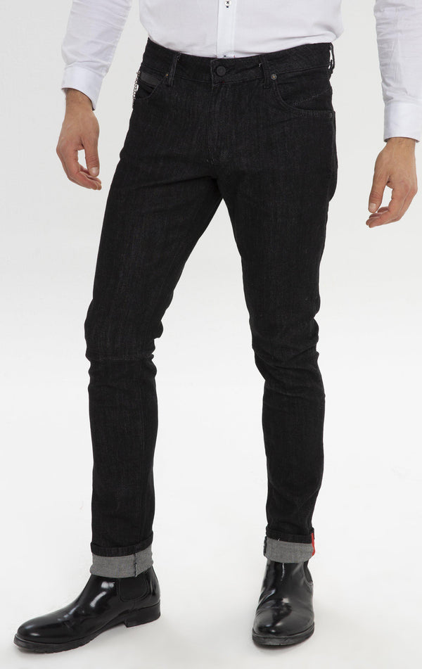 RT Inner Red Skinny Denim - Indigo