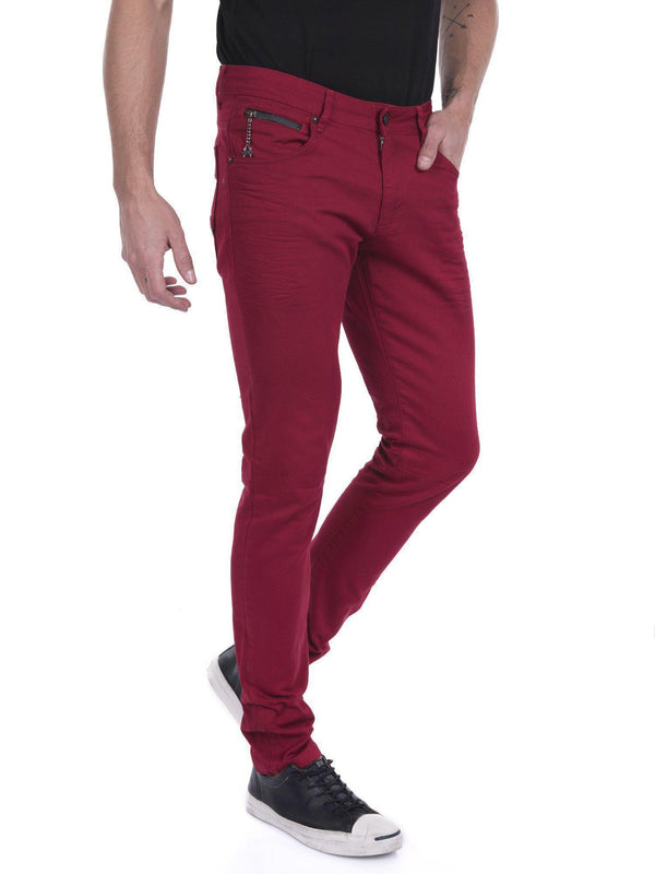 RT Inner Red Skinny Denim - Red - Ron Tomson