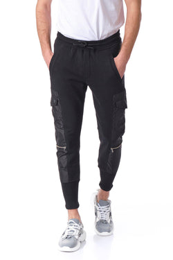 RT Sport Cargo Fitted Joggers- Black