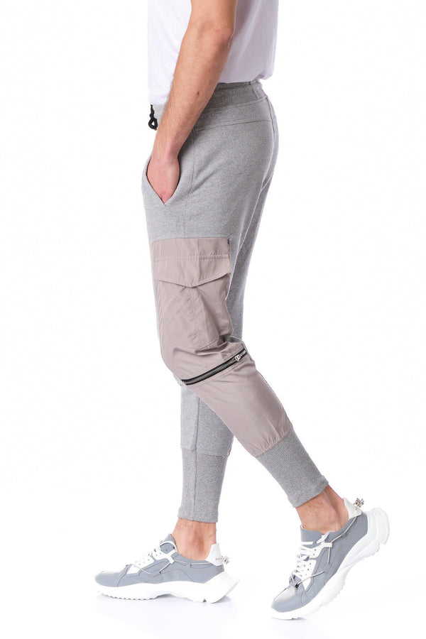 RT Sport Cargo Fitted Joggers - Grey - Ron Tomson