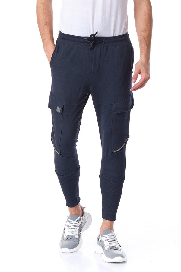 RT Sport Zippered Joggers - Navy