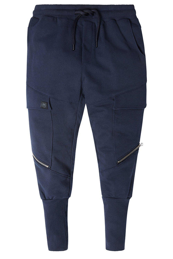 RT Sport Zippered Joggers - Navy - Ron Tomson