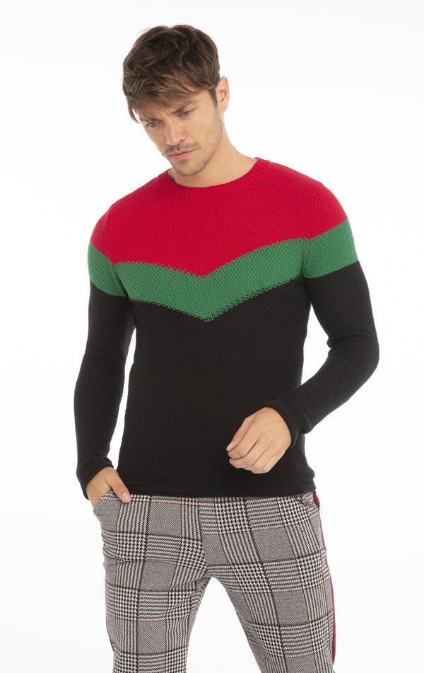 Rt Victory Sweater - Black Red - Ron Tomson