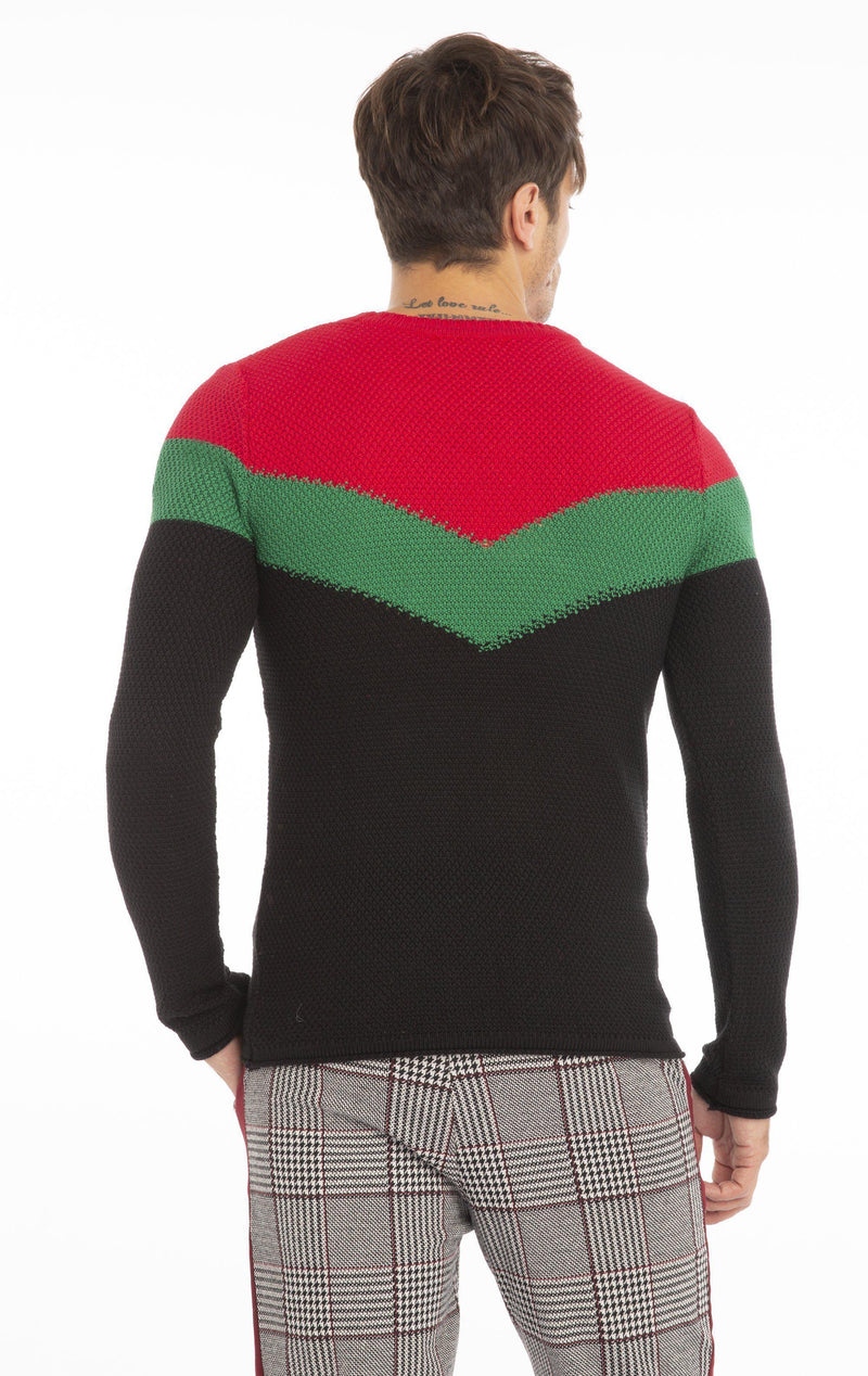 Rt Victory Sweater - Black Red
