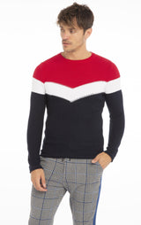 Rt Victory Sweater - Navy Red - Ron Tomson