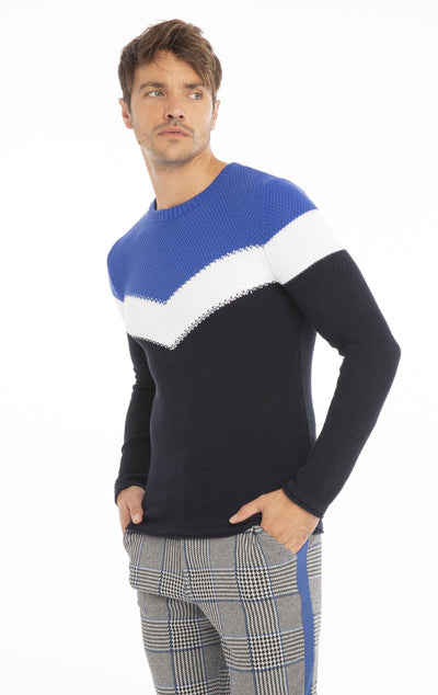 Rt Victory Sweater - Navy Sax