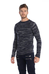 Salt and Pepper Cut-out Sweater - Ron Tomson