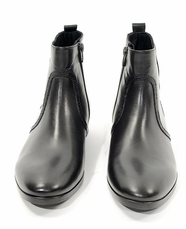 Seam Detail Zipped Chelsea Boots - Black - Ron Tomson