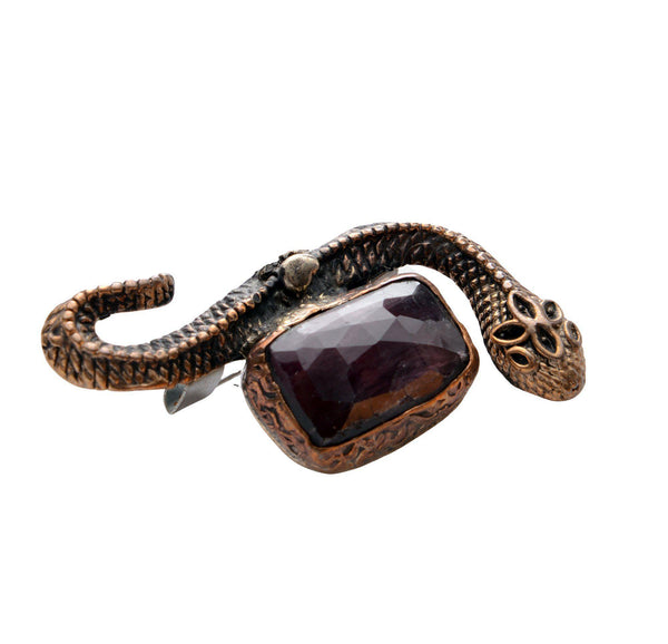Serpent Stone Pendant Brooch - Ron Tomson