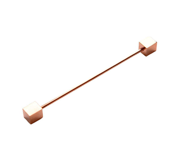 Sharp Corners Tie Collar Bar - Rose Gold