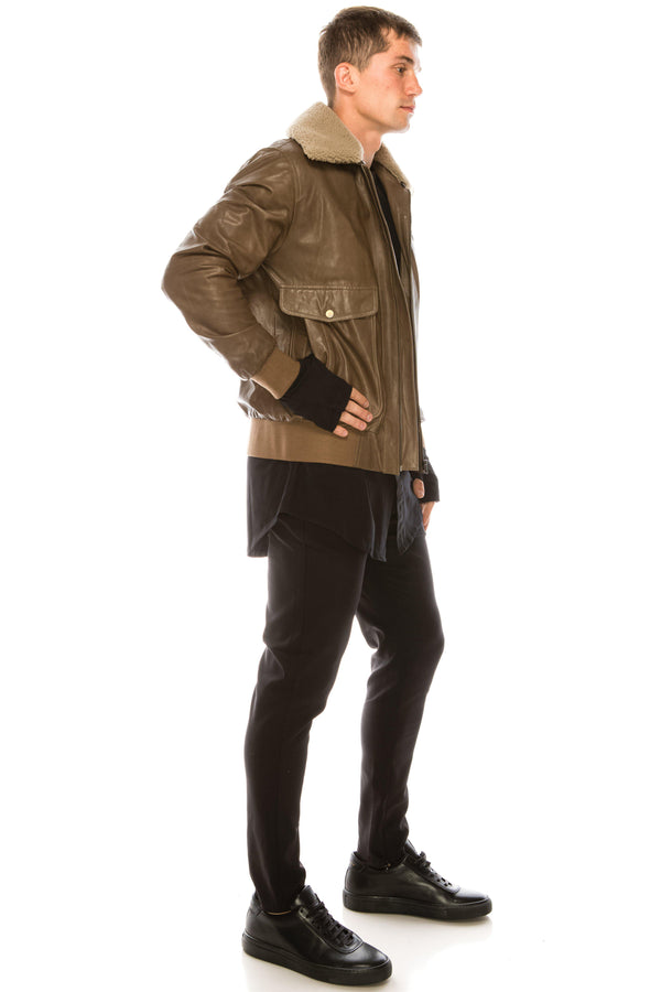 Shearling Aviator Jacket - Ron Tomson