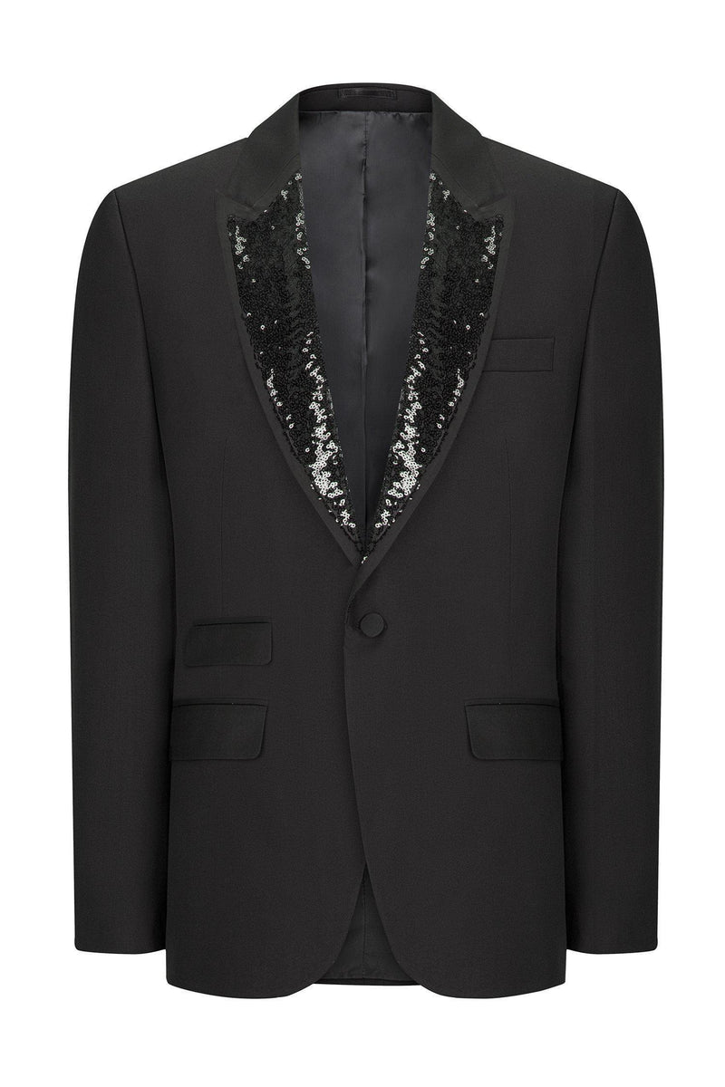 SHELDON SEQUIN PEAK LAPEL TUXEDO - Ron Tomson