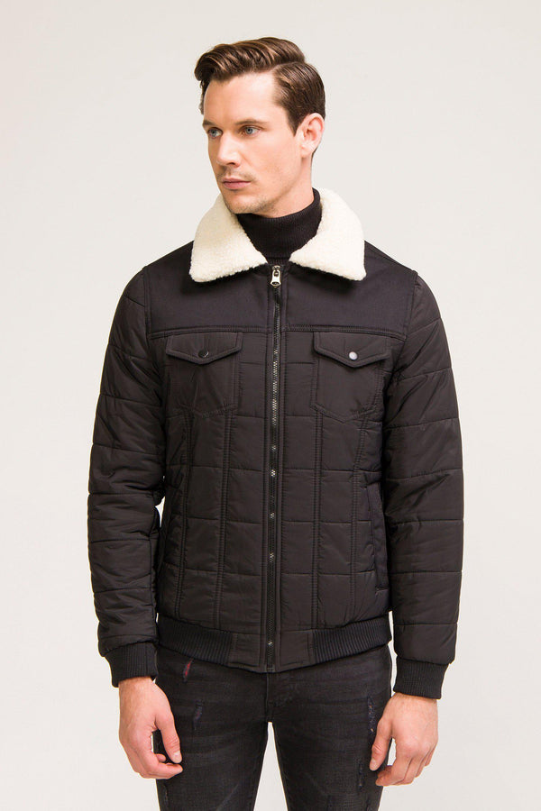 Shell Down Blouson Jacket - Black