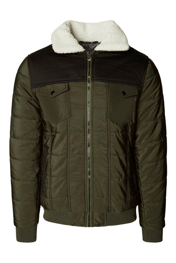 Shell Down Blouson Jacket  - Khaki - Ron Tomson