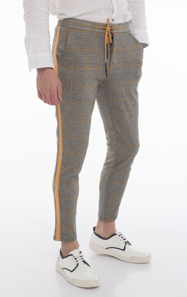 Side Stripe Fitted Track Pants - New Yellow