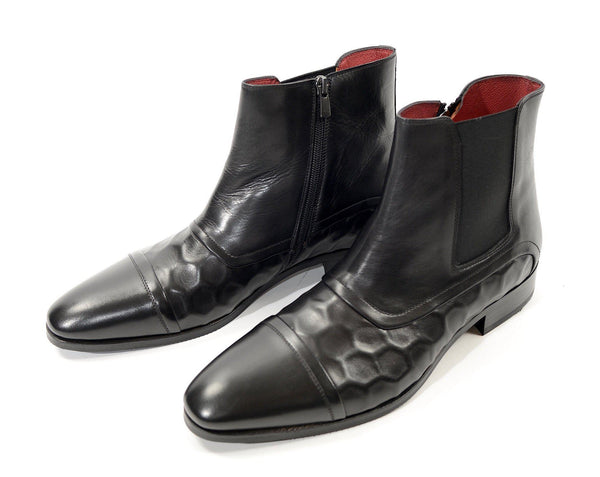 Side Zip Chelsea Boots - Black - Ron Tomson