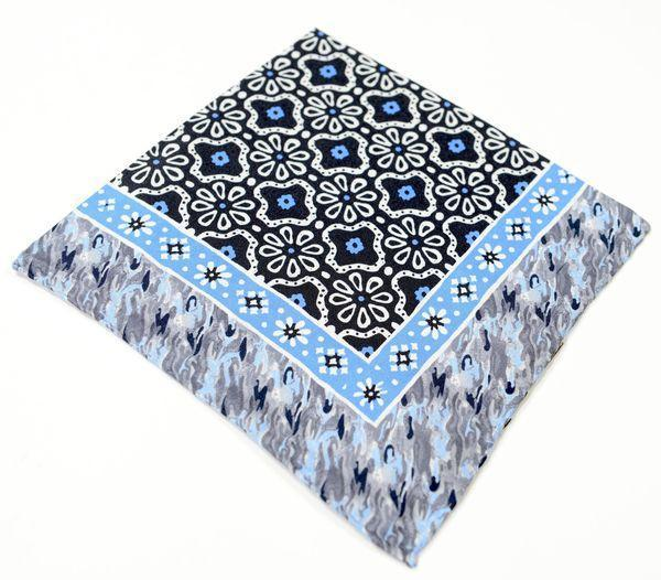 Silk Pocket Square  - Blue
