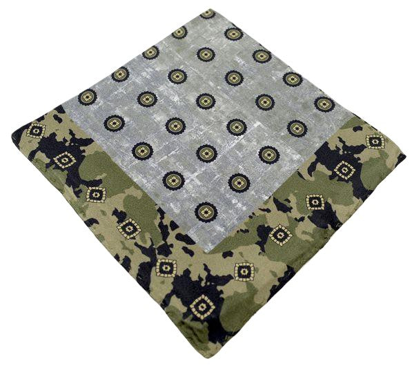 Silk Pocket Square  - Green