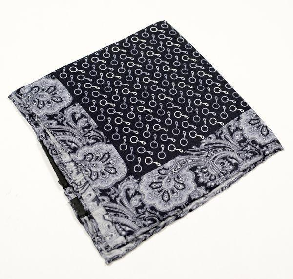 Silk Pocket Square  - Grey