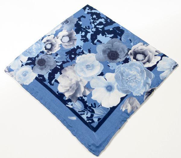 Silk Pocket Square  - Light Blue