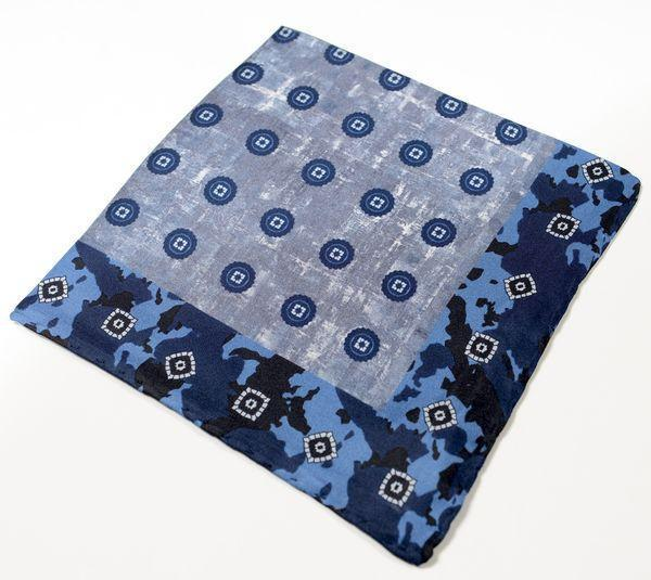 Silk Pocket Square  - Navy