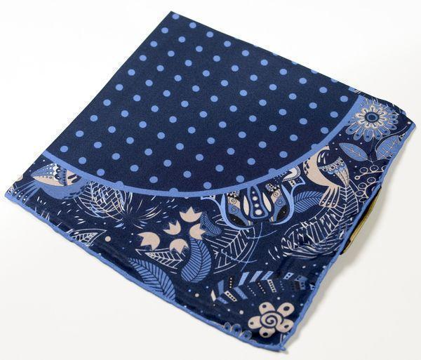 Silk Pocket Square  - NAVY - Ron Tomson