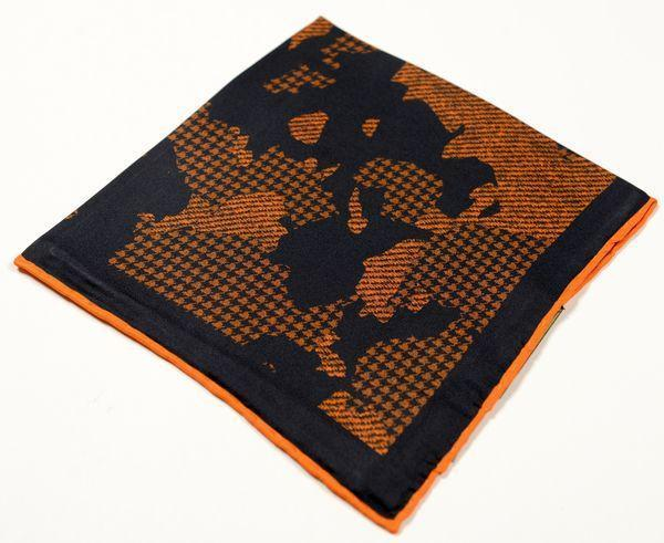 Silk Pocket Square  - Orange